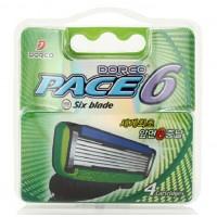 Сменные кассеты картриджи для бритья Dorco Pace 6 (4 шт)