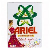 Стиральный порошок Ariel Чистота Deluxe Color & Style 450 гр