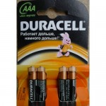Батарейки Duracell LR03/MN2400 AAA Русская упаковка 4 шт