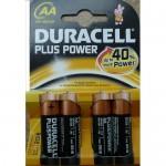 Батарейки Duracell LR6/MN1500 AA EU упаковка 4 шт