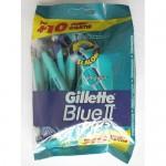 Одноразовые станки бритвы Gillette Blue 2 Plus (10 шт)