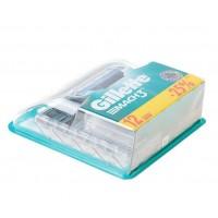 Сменные кассеты картриджи для бритья Gillette Mach3 12 штук купить оптом