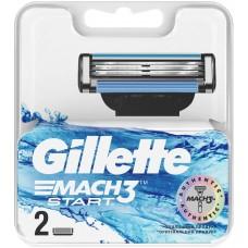 Gillette Mach3 Start Сменные Кассеты Картриджи Для Бритвы, 2 штуки оптом