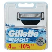 Gillette Mach3 Start Сменные Кассеты Картриджи Для Бритвы, 4 шт