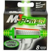 Сменные кассеты картриджи для бритья Gillette Mach3 Power, 8 шт
