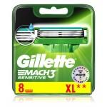 Сменные кассеты картриджи для бритья Gillette Mach3 Sensitive, 8 шт