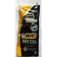Станки одноразовые бритвенные Bic Metal 1 лезвие (5 шт)